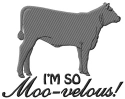 Its Moo-velous embroidery design