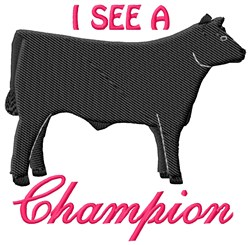 A Champion embroidery design