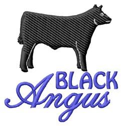 Black Angus embroidery design