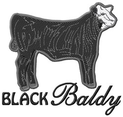 Black Baldy embroidery design