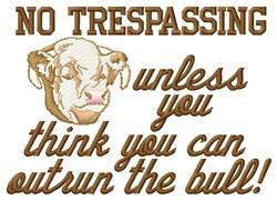 No Trespassing embroidery design