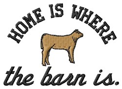 Home Is Barn embroidery design