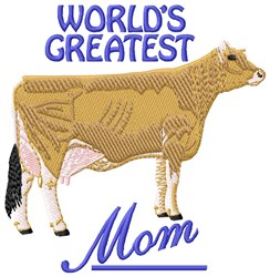 Greatest Mom embroidery design