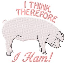 I Ham embroidery design