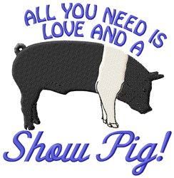 Show Pig embroidery design