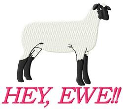 Hey Ewe embroidery design