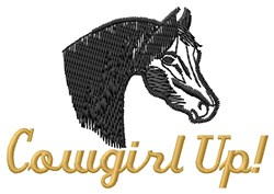 Cowgirl Up embroidery design