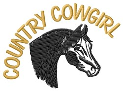 Country Cowgirl embroidery design