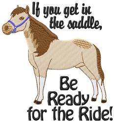 Ready For Ride embroidery design