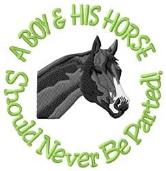 Boy & Horse embroidery design