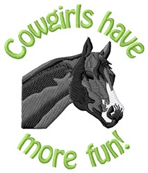 Fun Cowgirl embroidery design