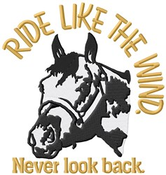 Ride Like Wind embroidery design