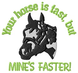 Mines Faster embroidery design