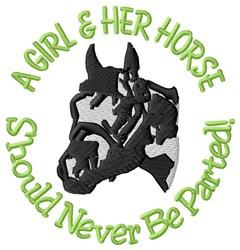Girl & Horse embroidery design