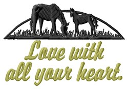 Love With Heart embroidery design
