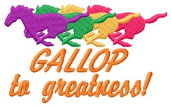 Gallop Greatness embroidery design