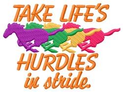 Lifes Hurdles embroidery design