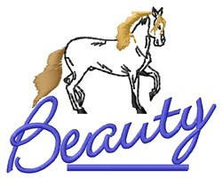 Horse Beauty embroidery design