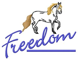 Freedom Horse embroidery design