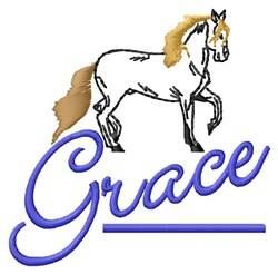 Grace Horse embroidery design