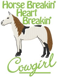 Horse Breakin embroidery design