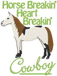 Breakin Cowboy embroidery design