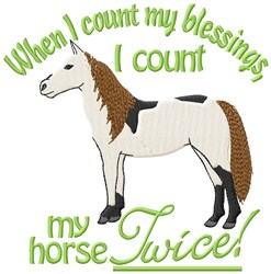 Horse Blessings embroidery design