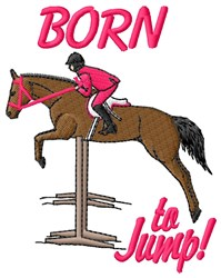 Born To Jump embroidery design