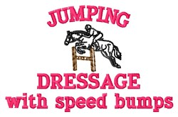 Speed Bumps embroidery design