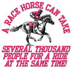 A Race Horse embroidery design
