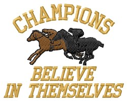 Champions embroidery design