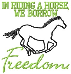 Borrow Freedom embroidery design
