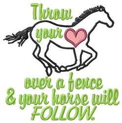 Horse Will Follow embroidery design