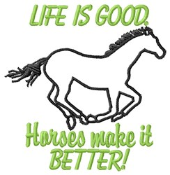 Horses Better embroidery design