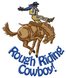 Rough Riding embroidery design