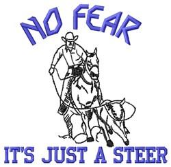 No Fear embroidery design