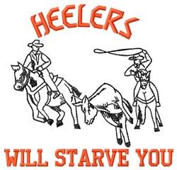 Heelers embroidery design