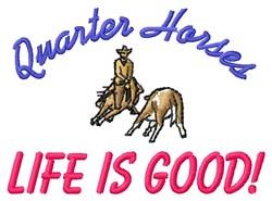 Quarter Horses embroidery design