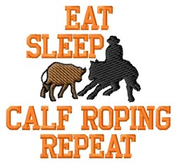 Calf Roping embroidery design
