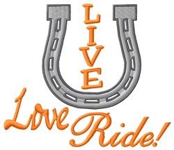 Love Ride embroidery design