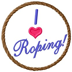 Love Roping embroidery design