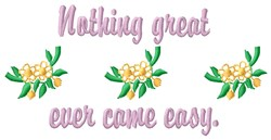 Ever Came Easy embroidery design