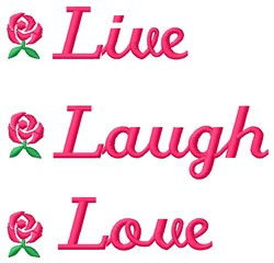 Live Laugh embroidery design