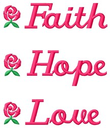 Faith Hope embroidery design