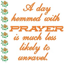 Prayer Day embroidery design
