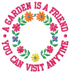 Garden Is Friend embroidery design