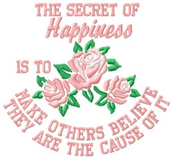 Happiness Secret embroidery design