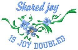 Shared Joy embroidery design
