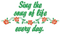 Song Of Life embroidery design