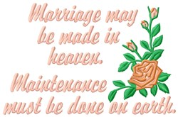 Marriage embroidery design
